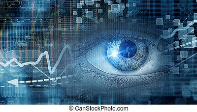 Eye scanning. Concept image