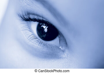 Eye See - Close up of a young child\\\'s eye