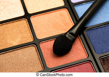 Eye Shadow - Detail of an eye shadow with a palette