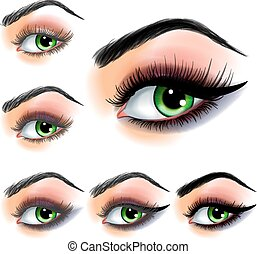 Eye shadow make up step by step