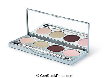 eye shadow on a white background