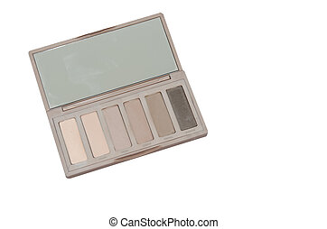 eye shadow on the white background.