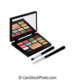 eye shadow set with brushes