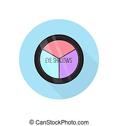 Eye shadows icon. - Eye shadow palette. Vector illustration....