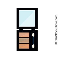 eye shadows make up icon. Vector graphic - eye shadows make...