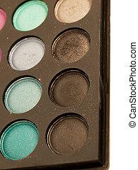 eye shadows palette close-up