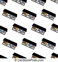 Eye shadows pattern on the white background. Vector...