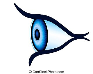 Eye side view - Illustration of the abstract eye side view