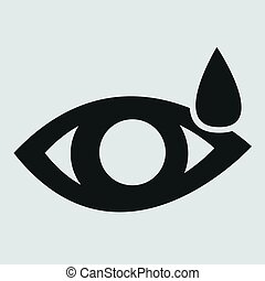 Eye sign icon