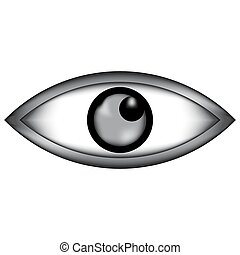 Eye sign icon.