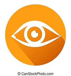 Eye sign icon. Publish content button. Stock vector illustration