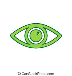 Eye sign illustration. Vector. Lemon scribble icon on white background. Isolated
