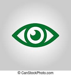 Eye sign symbol.