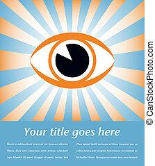 Eye sunburst design. - Eye sunburst design with copy space ...
