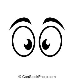 eye surprised look vision optical icon. Isolated and flat illustration. Vector graphic