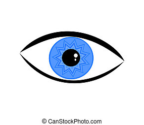 Eye - Symbolic blue eye over white