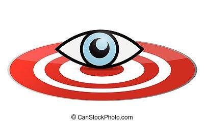 eye target illustration design