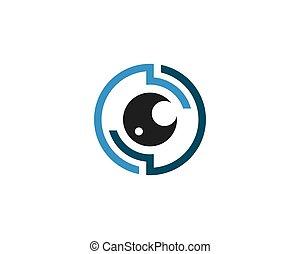 eye technology logo vector template