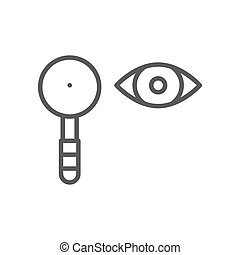 Eye test, scapula line icon.