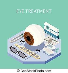 Eye Treatment Isometric Composition