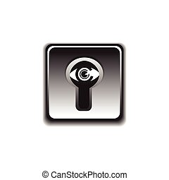eye under the lock