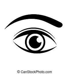 Eye vector - Black eye icon. Vector illustration