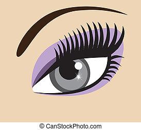 Eye - vector eye with long lashes