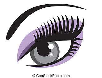 vector eye with make up