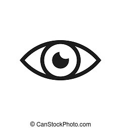 Eye vector icon in modern design style for web site and mobile app