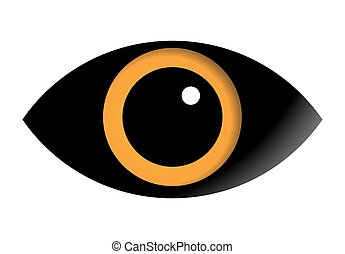 Eye vector icon isolated on white background