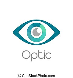 Eye vector logo design template. - Medical pharmacy logo...