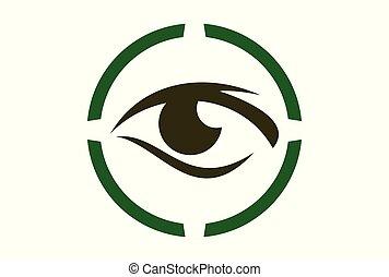 eye vector vision logo icon
