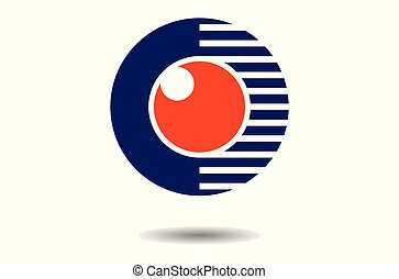 eye vision abstract logo