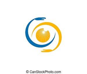 Eye Vision Care Logo Design Vector Template