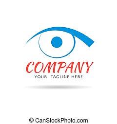 Eye vision vector logo design template
