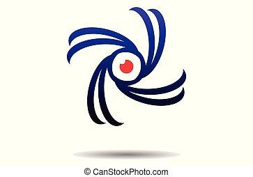 eye vision vector logo dsign