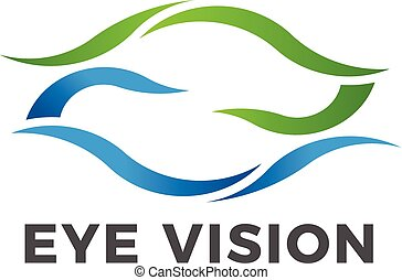 Eye vision vector logo symbol