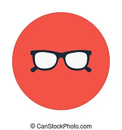 eye wear flat icon