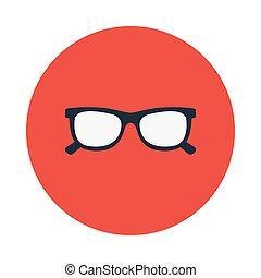 eye wear flat icon