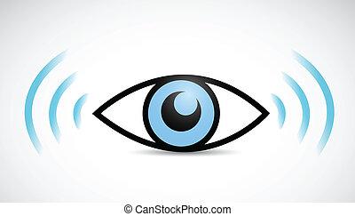 eye wifi illustration design