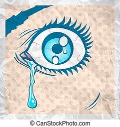 eye with a tear