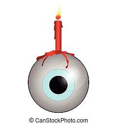 Eye with candle