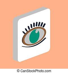Eye with Eyelashes computer symbol