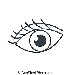 eye with eyelashes icon
