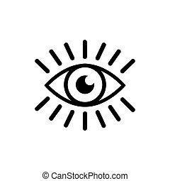 Eye with eyelashes icon. Look and Vision icon. Eye vector icon