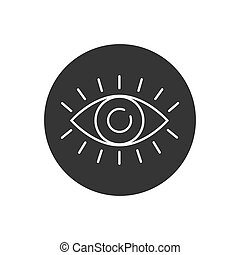 Eye with eyelashes line icon. Look and Vision icon. Eye vector icon in modern flat