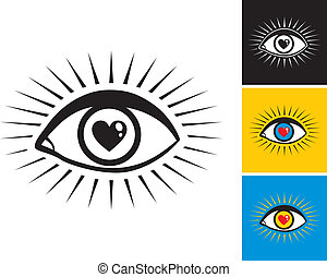 eye with heart - eye with the pupil in the form of heart