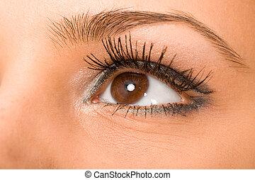 eye with long eyelashes