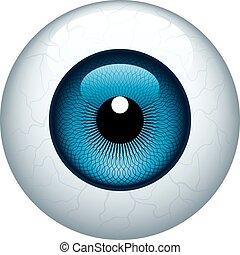 Eyeball - Blue eyeball isolated on white. Eps8. CMYK. ...