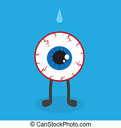 Eyeball Character Bloodshot - Bloodshot eyeball character...